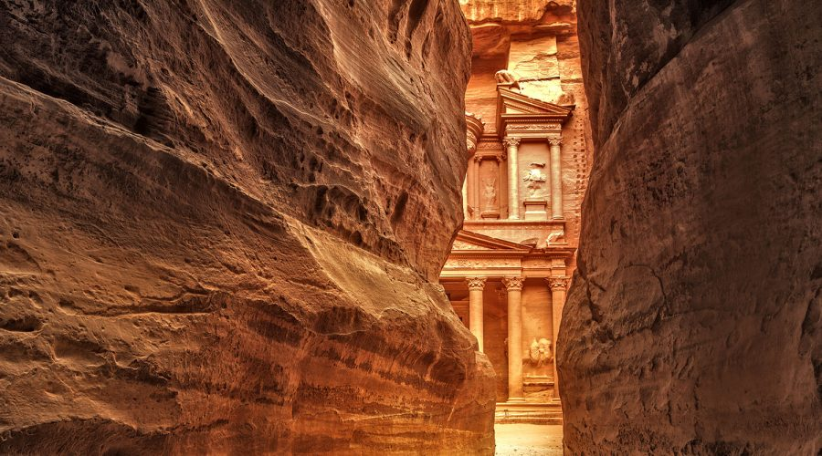 Jordan - Petra - View from Siq on entrance of City of Petra