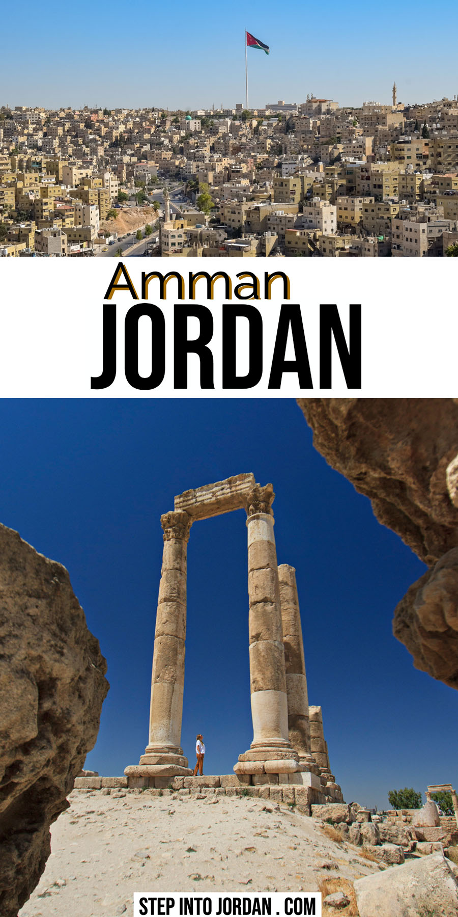 Visit Amman Jordan Hills and Citadel Temple
