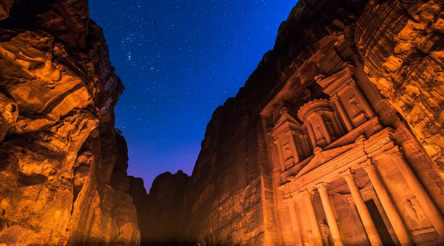 Jordan - Petra - Petra by Night with Ski