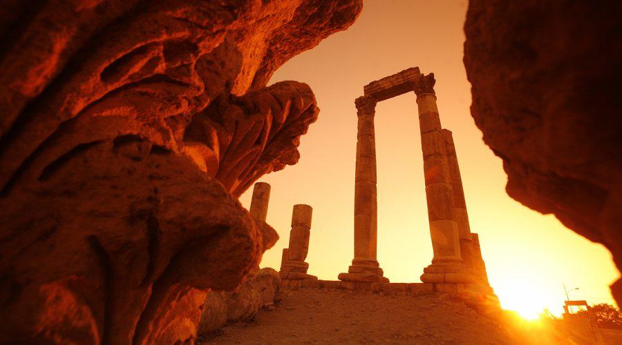 Jordan - Amman - Citadel Hercules Temple Sunset