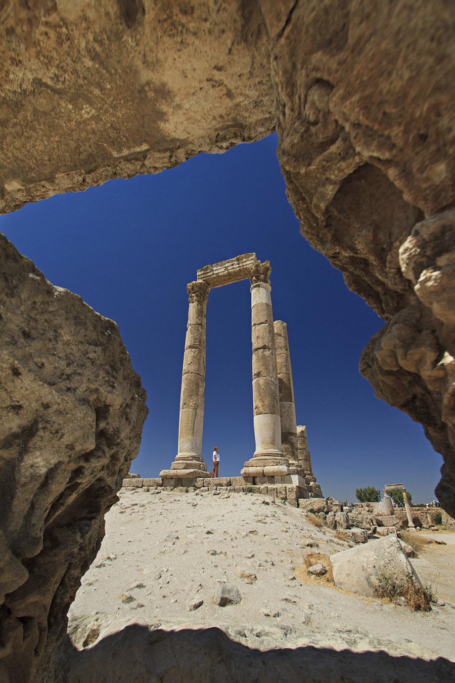 Jordan - Amman - Amman Citadel Hercules Temple