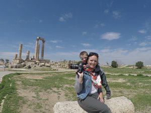 Amman - Amman Citadel in Spring