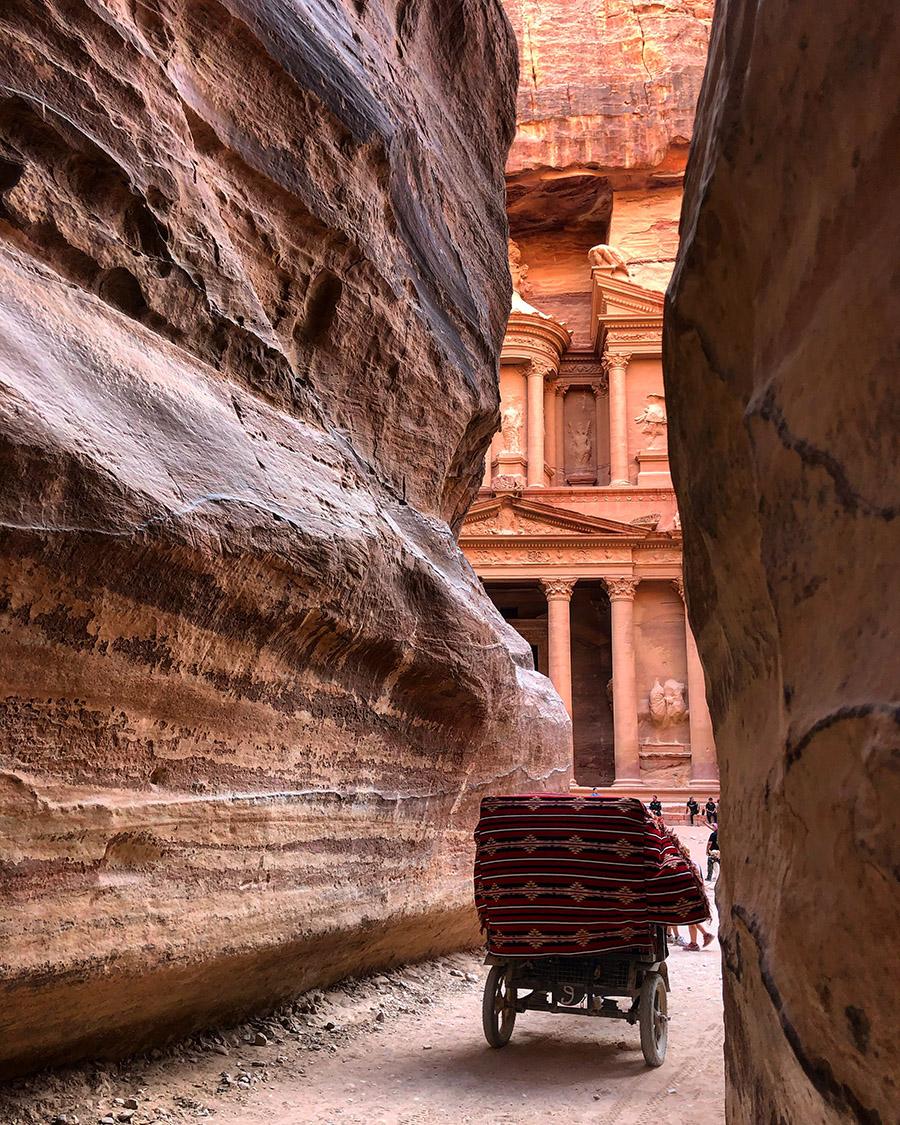 Jordan Petra Treasury Siq Carriage