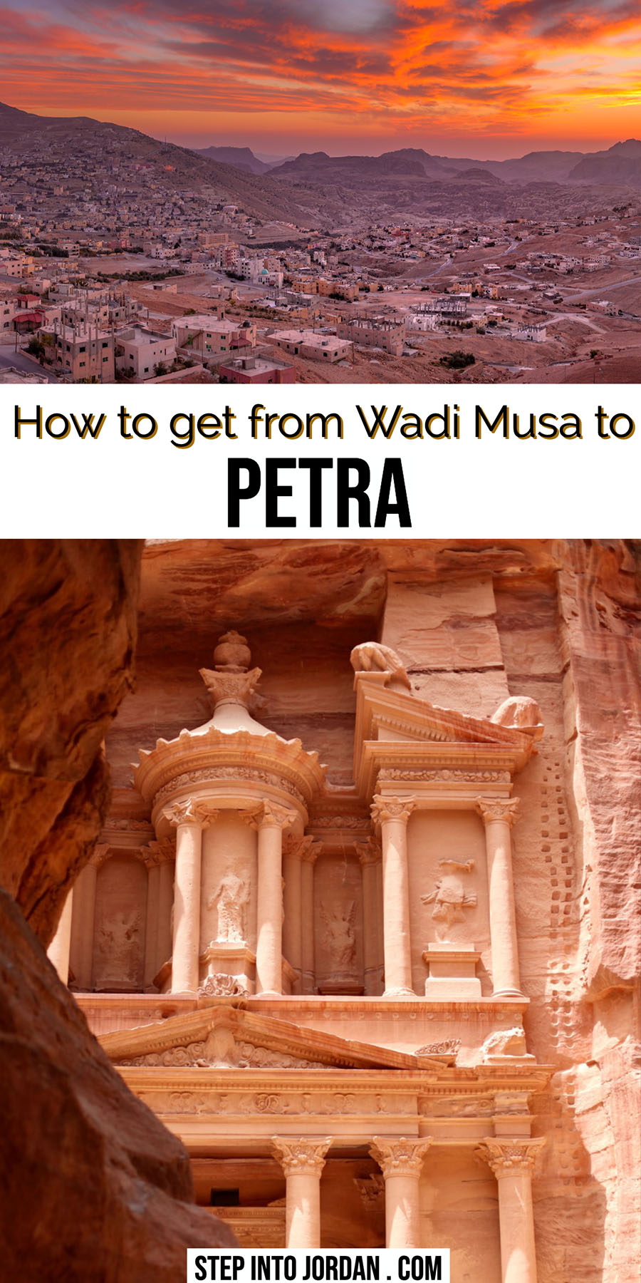 How to get from Wadi Musa to Petra