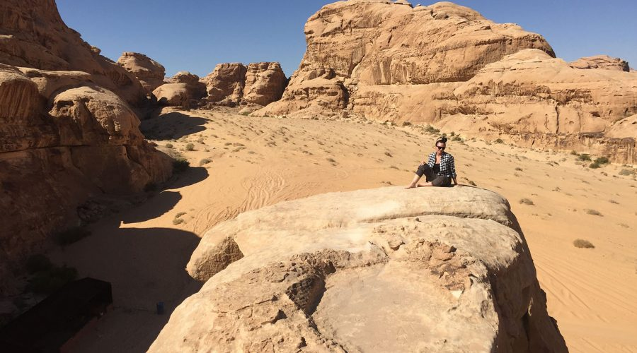 Hiking In Jordan - Wadi Rum Rock Bridge