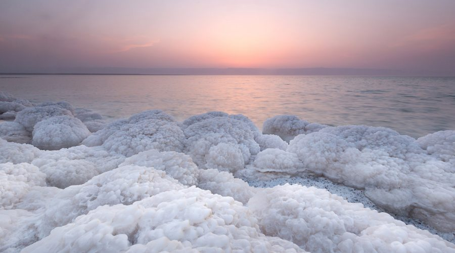 Jordan - Dead Sea Salt Rock in Dead Sea