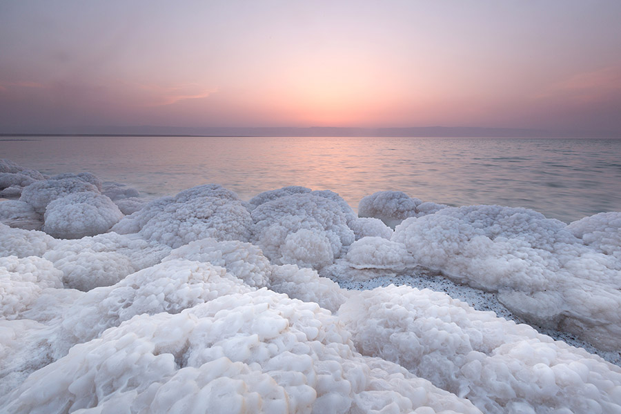Salt Rock in Dead Sea, Jordan