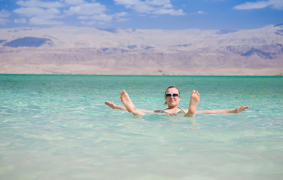Jordan - Floating at the Dead Sea