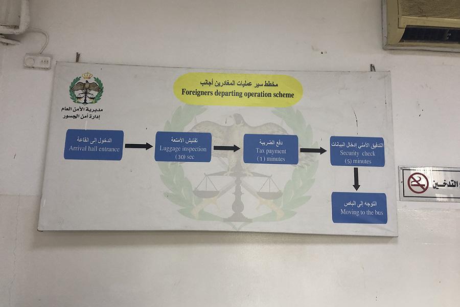 King Hussein Bridge Exit Process