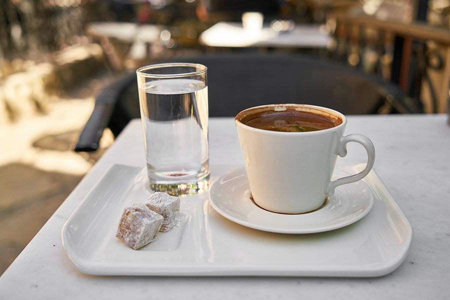 Turkey - Turkish Coffee with Locum and Water