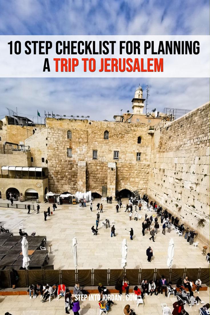 Planning a Trip to Jerusalem