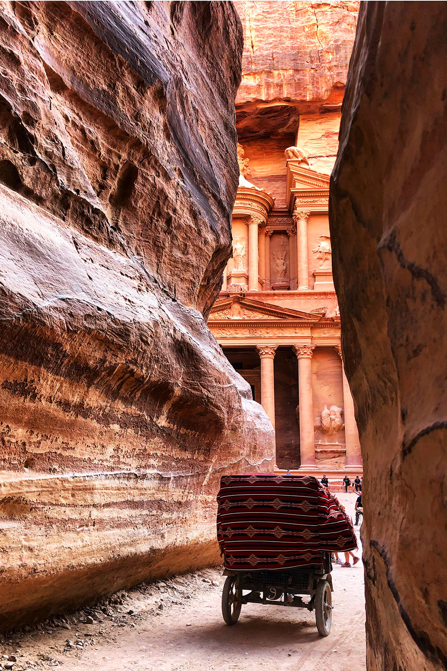 Jordan - Petra Treasury with Horse and Cart