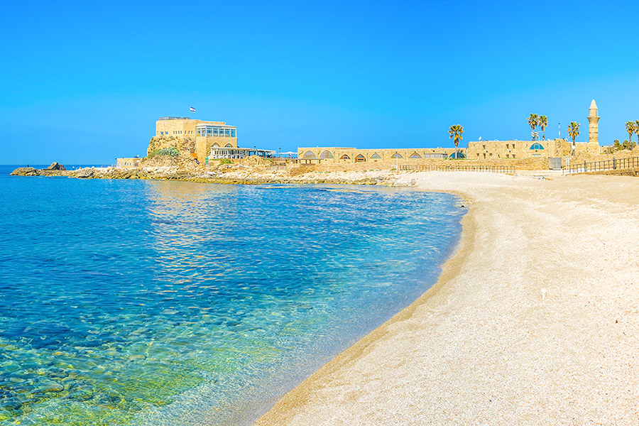 Israel - Caesarea Aqueduct Beach