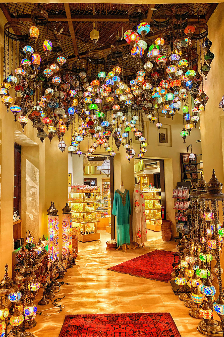 Shopping in Dubai at Night