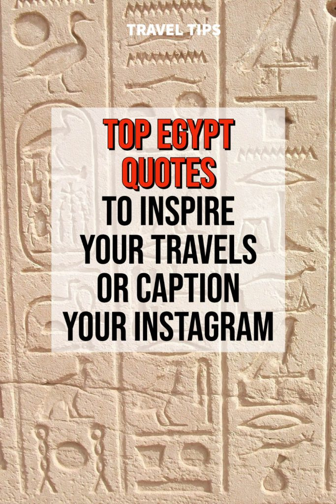 Egyptian Quotes for Instagram Captions